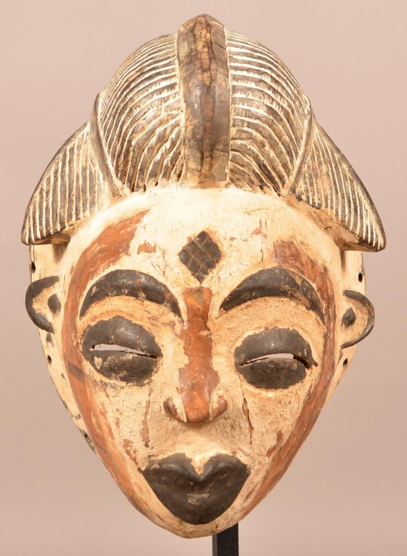 Two Antique/Vintage African Carved Wood Tribal Masks. - 6