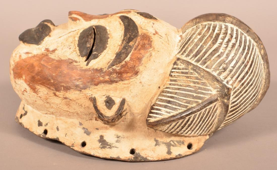 Two Antique/Vintage African Carved Wood Tribal Masks. - 8