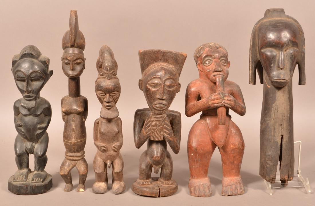 Six Antique/Vintage African Carved Wood Tribal Masks.