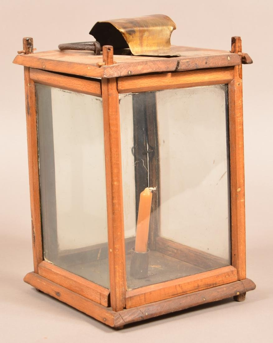 Antique Wooden Candle Lantern. Pegged tenon - 2