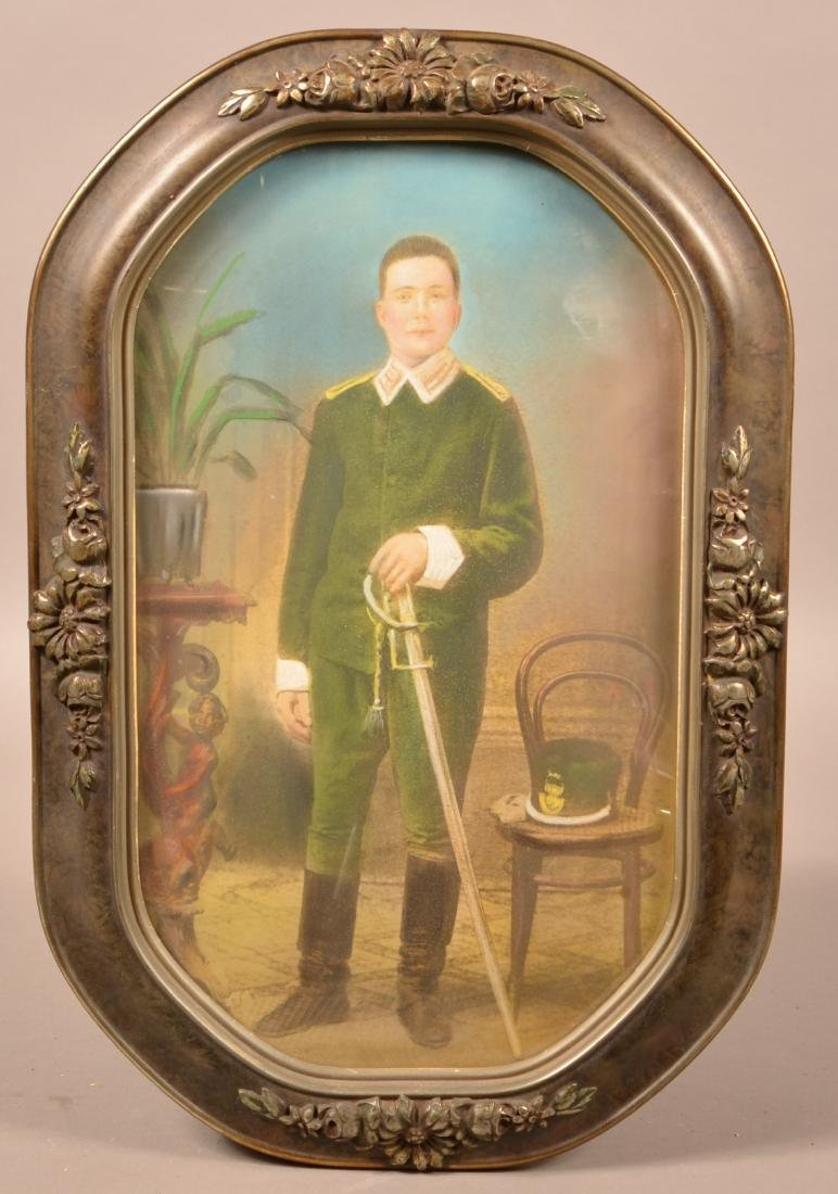 19th Century Pastel Image Of an Officer. Wearing a