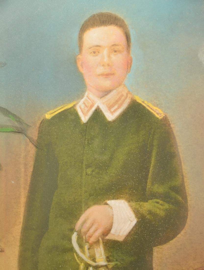 19th Century Pastel Image Of an Officer. Wearing a - 2