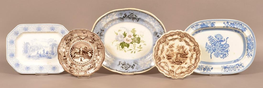 Five Pieces of Staffordshire and Ironstone China.