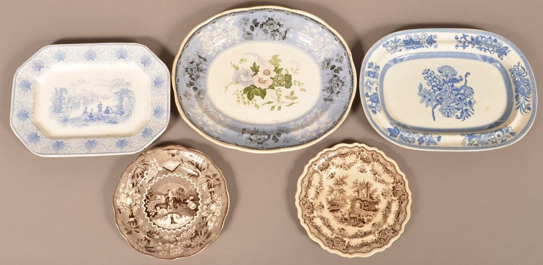 Five Pieces of Staffordshire and Ironstone China. - 2
