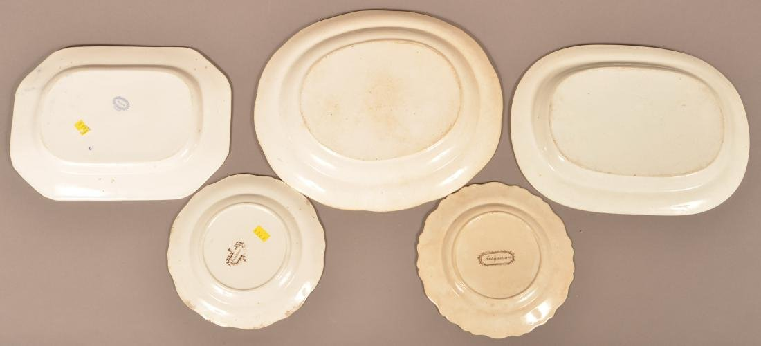 Five Pieces of Staffordshire and Ironstone China. - 3