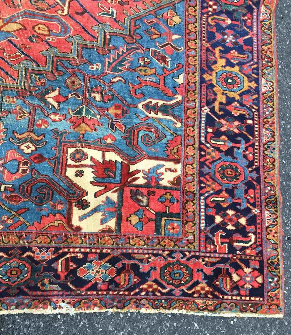 "Antique Persian Heriz Pattern Room Size Rug. 9'6"" x - 3"