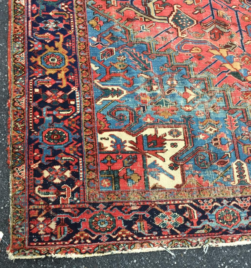 "Antique Persian Heriz Pattern Room Size Rug. 9'6"" x - 4"