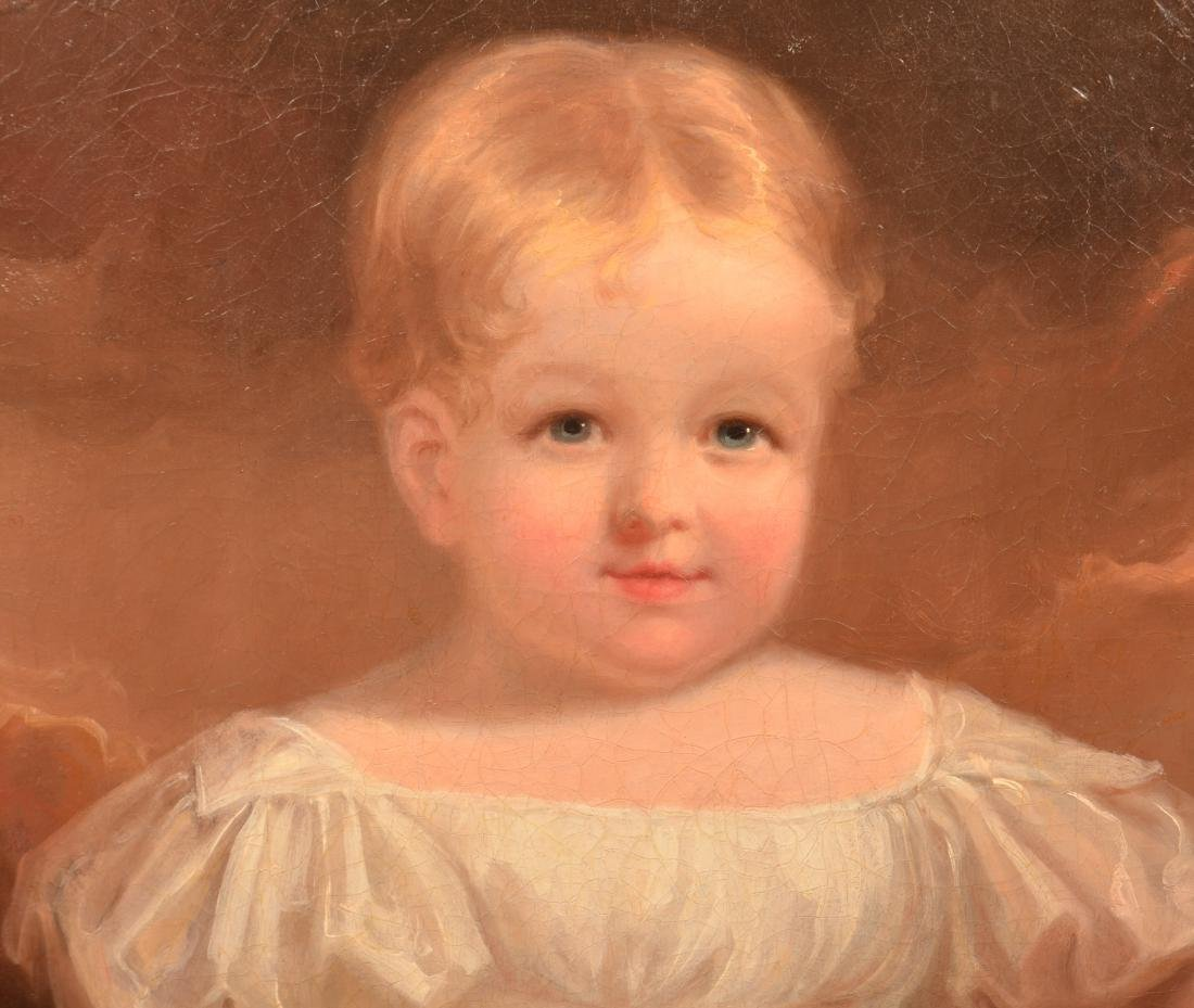 Oil on Canvas Portrait of a Young Girl Attributed - 2