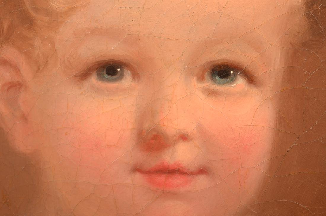 Oil on Canvas Portrait of a Young Girl Attributed - 3