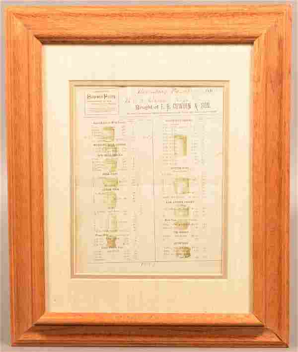 F.H. Cowden & Son, Harrisburg, PA Printed Receipt Dated