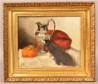 Frederick Spang Oil on Canvas Still Life Painting.