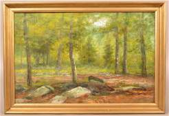 Mary B. Leisz Oil On Canvas Landscape Painting. (Mary