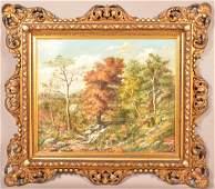 E. S. Reeser Oil on Canvas Landscape Painting. (Eugene