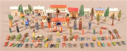 Lot of Antique/Vintage Christmas Village Items.