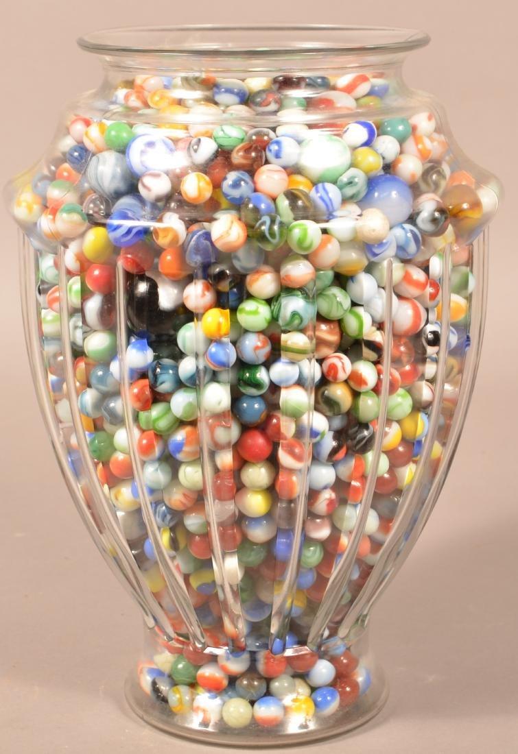 Large Jar Full of 1000+ Vintage Marbles. Jar measures - 2