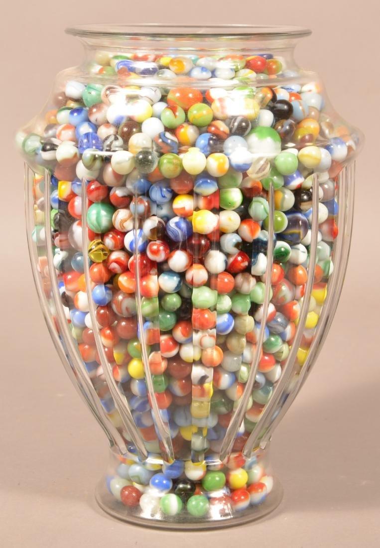 Large Jar Full of 1000+ Vintage Marbles. Jar measures - 4