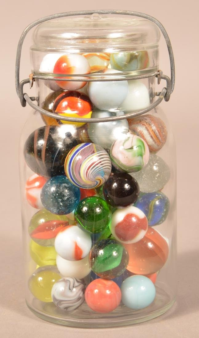Lot of Various Antique and Vintage Marbles. Largest - 2