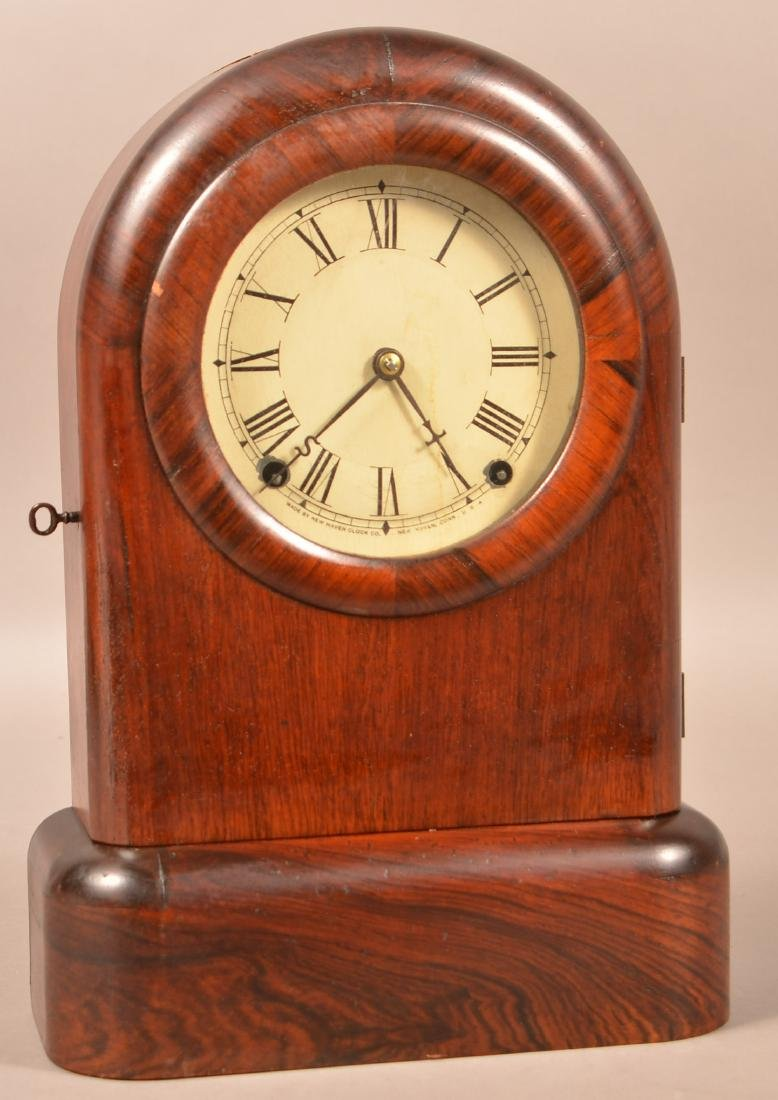 New Haven Rosewood Case Shelf Clock. 8-day spring