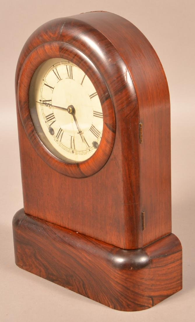 New Haven Rosewood Case Shelf Clock. 8-day spring - 5