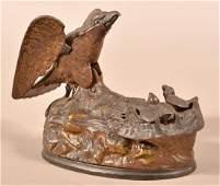 Eagle and Eaglets Cast Iron Mechanical Bank