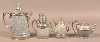Four Antique/Vintage Gray Granite Ware Hollowware