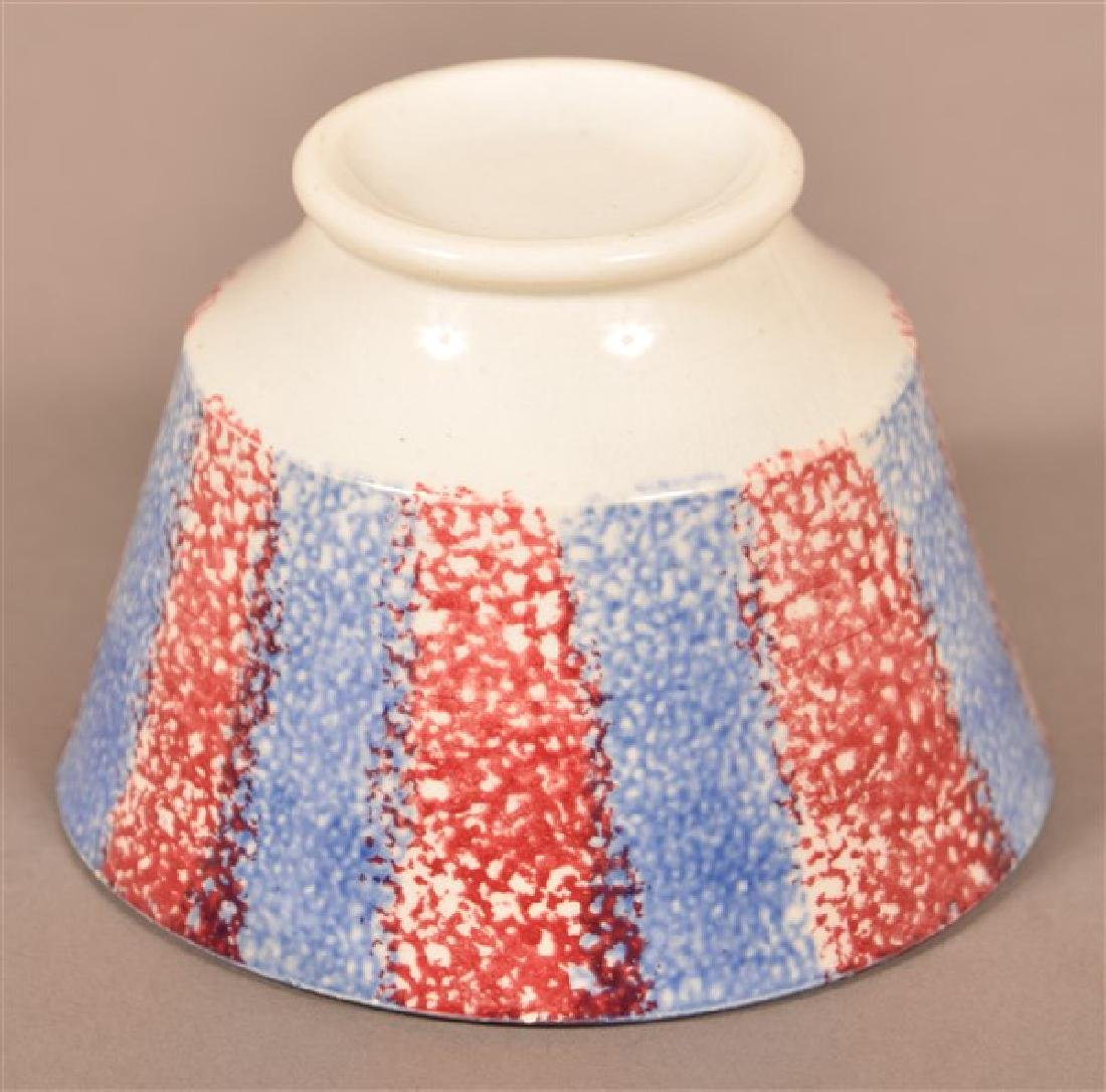 Two Pieces of Rainbow Spatter China. Blue and red cup. - 4
