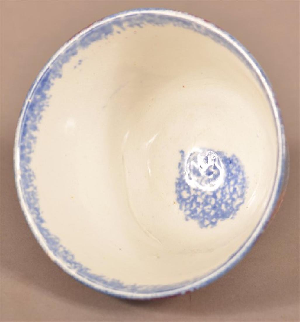 Two Pieces of Rainbow Spatter China. Blue and red cup. - 5