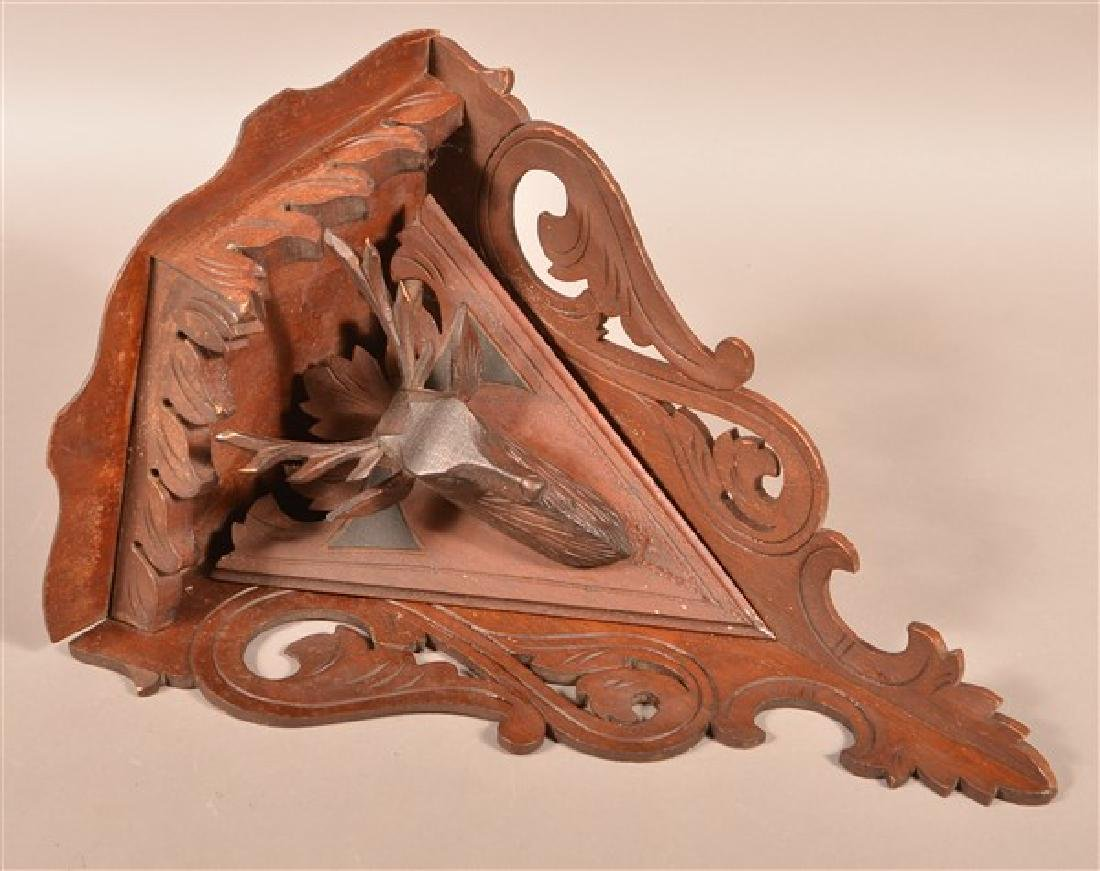 Victorian Walnut Carved and Molded Corner Hanging