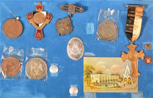 Lot of Antique/Vintage Masonic Medals and Pins