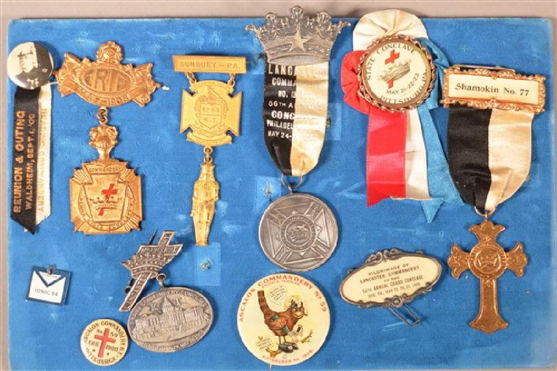 Lot of Antique/Vintage Masonic Medals and Pins.