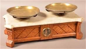 Troemner, Philadelphia Victorian Balance Scale. Oak