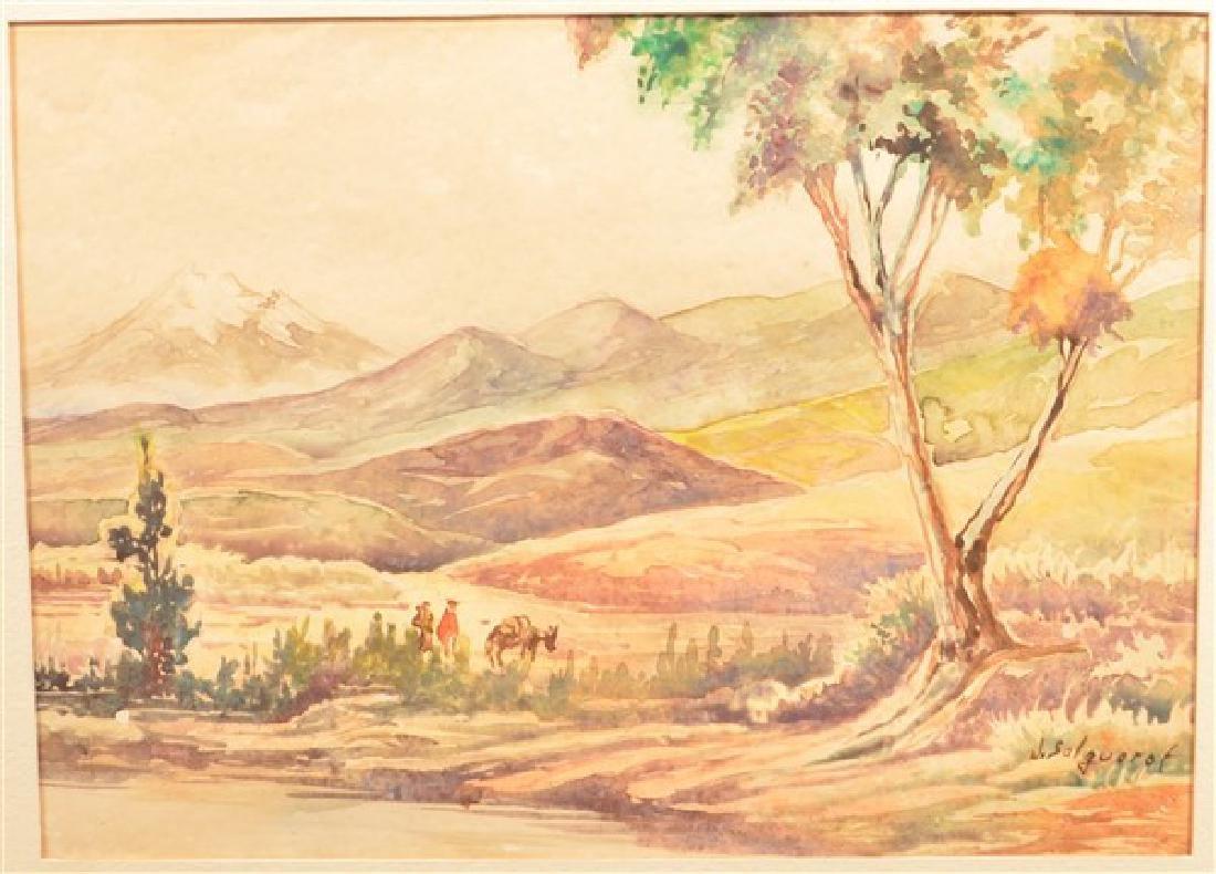 Two Various Landscape Paintings. Largest measures - 2