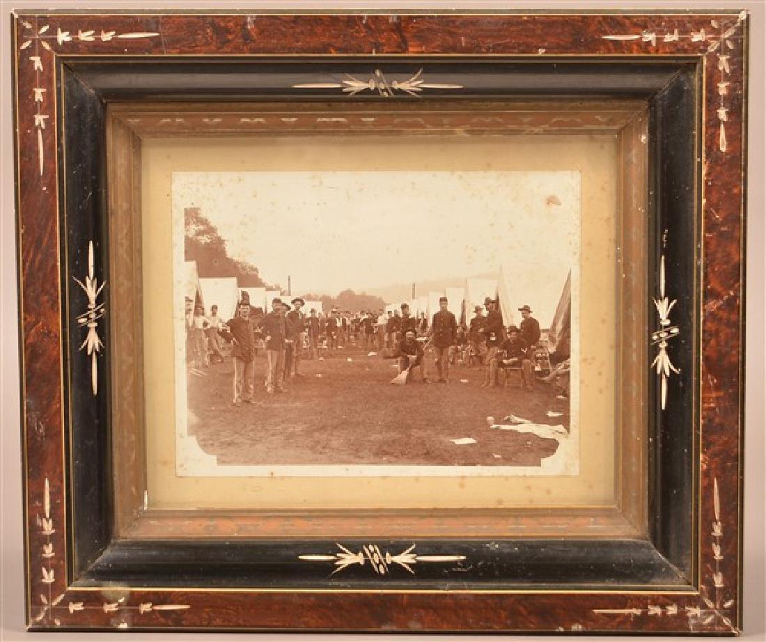 19th Century Photo of a Civil War Encampment. In a