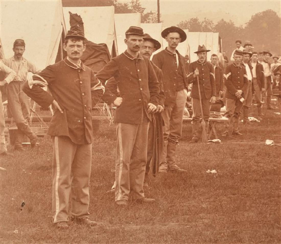 19th Century Photo of a Civil War Encampment. In a - 3