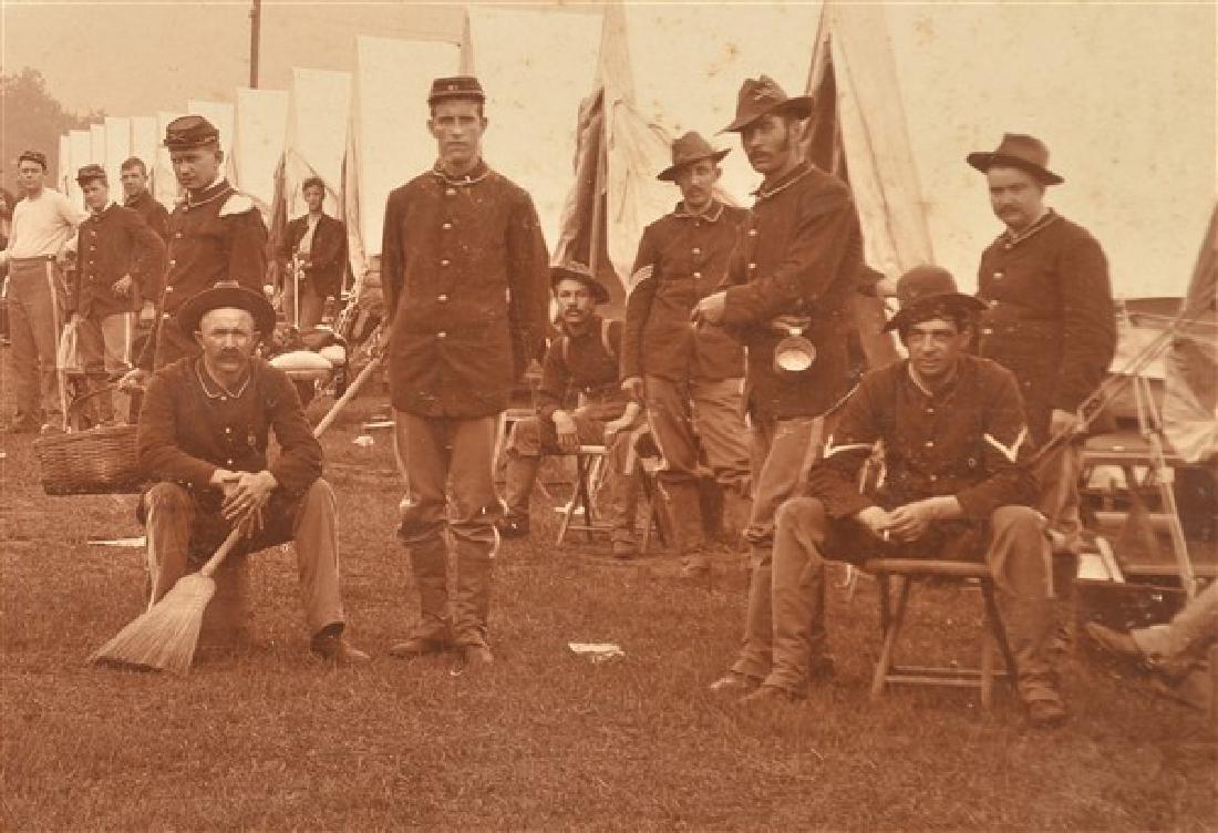 19th Century Photo of a Civil War Encampment. In a - 4