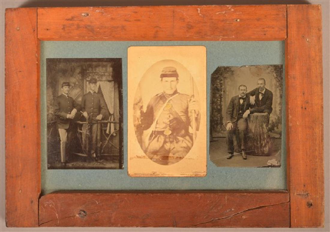 Three 19th Century Images. Two 1/6 Plate Tintypes, one