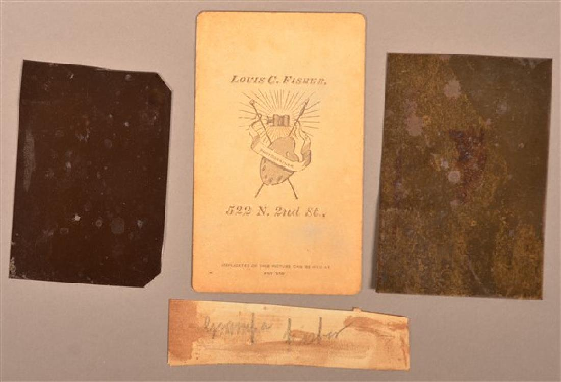 Three 19th Century Images. Two 1/6 Plate Tintypes, one - 3