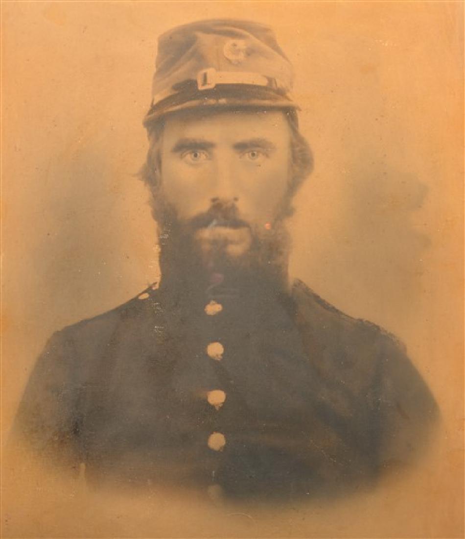 19th Century Charcoal Bust Portrait of a Civil War - 2