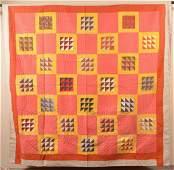 AntiqueVintage Geometric Pattern Patchwork Quilt 78