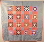 AntiqueVintage Geometric Pattern Patchwork Quilt 64