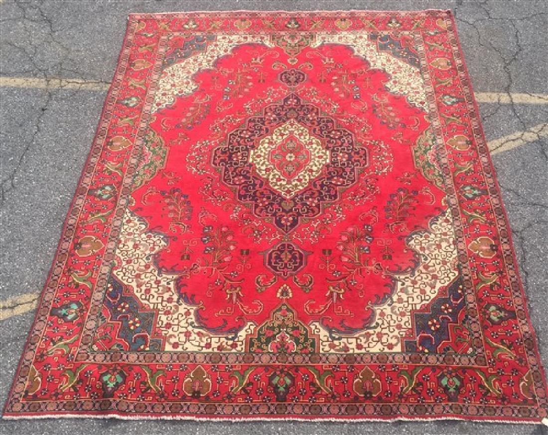 "Antique/Vintage Persian Tabriz Room Size Rug. 9'6"" x"