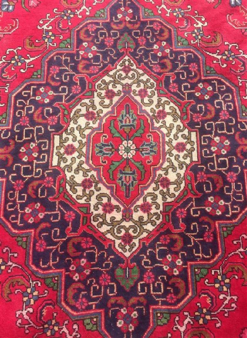 "Antique/Vintage Persian Tabriz Room Size Rug. 9'6"" x - 2"