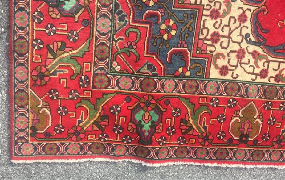 "Antique/Vintage Persian Tabriz Room Size Rug. 9'6"" x - 4"
