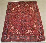 "Antique/Vintage Persian Heriz Room Size Rug. 7'1"" x"