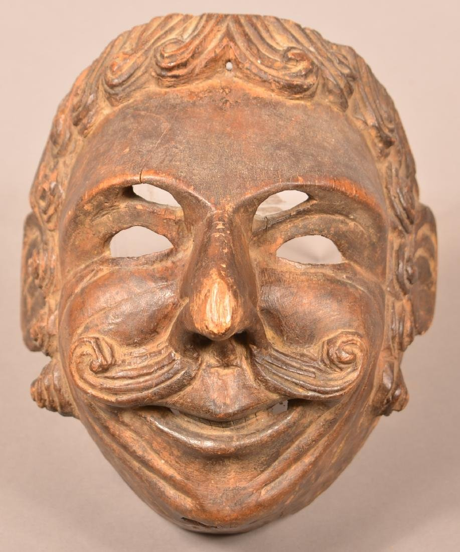 Antique Central American Festival Mask