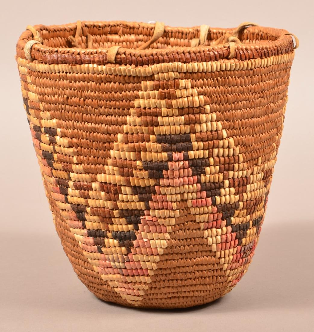 Coiled and Imbricated Basket from the Cascade Region