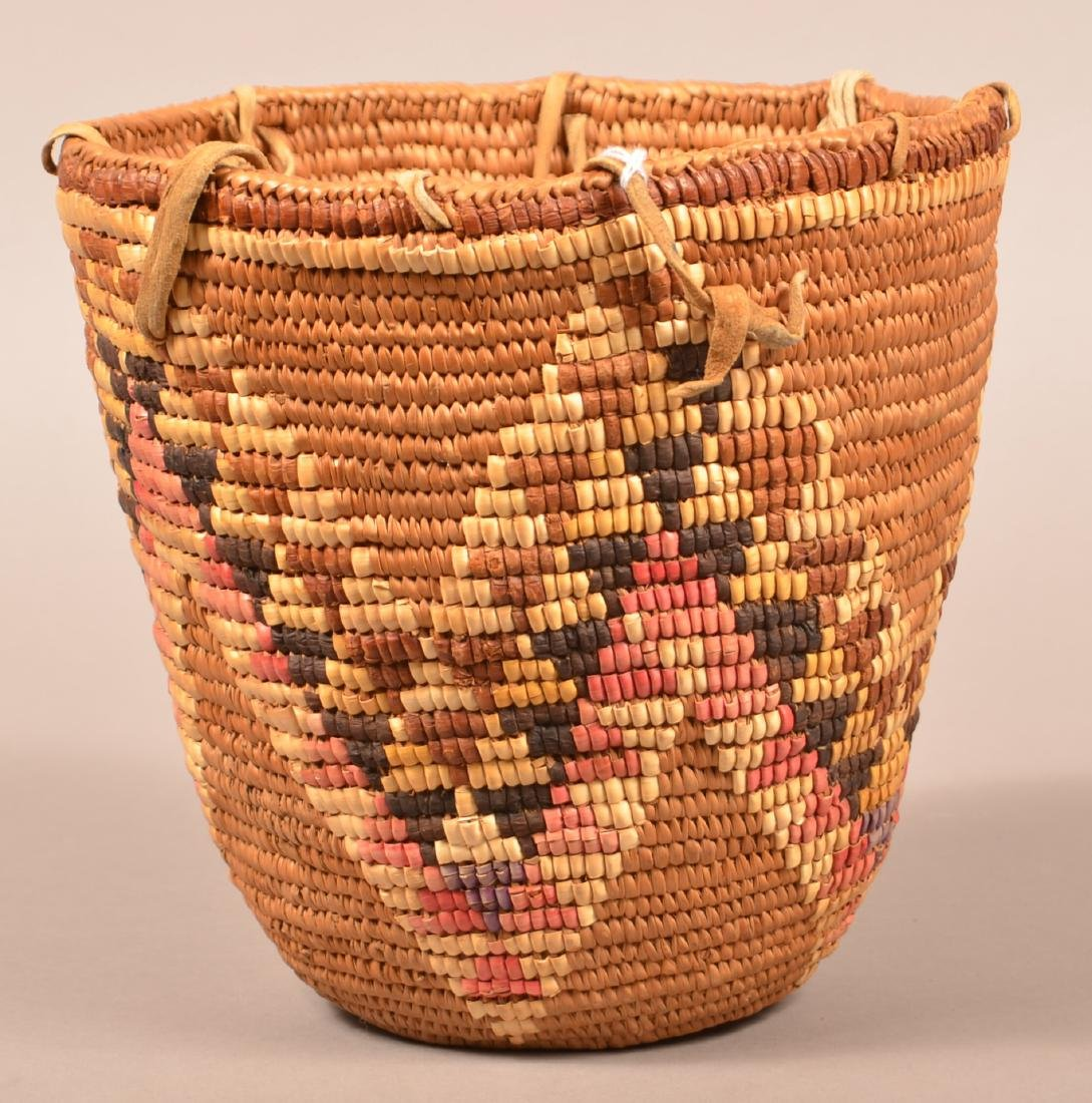 Coiled and Imbricated Basket from the Cascade Region - 3