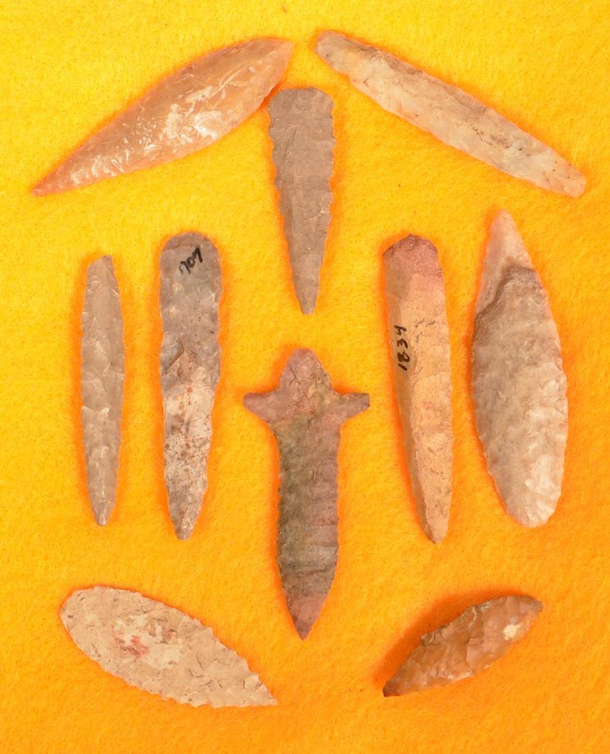 10 Ancient South Central US Flint Points