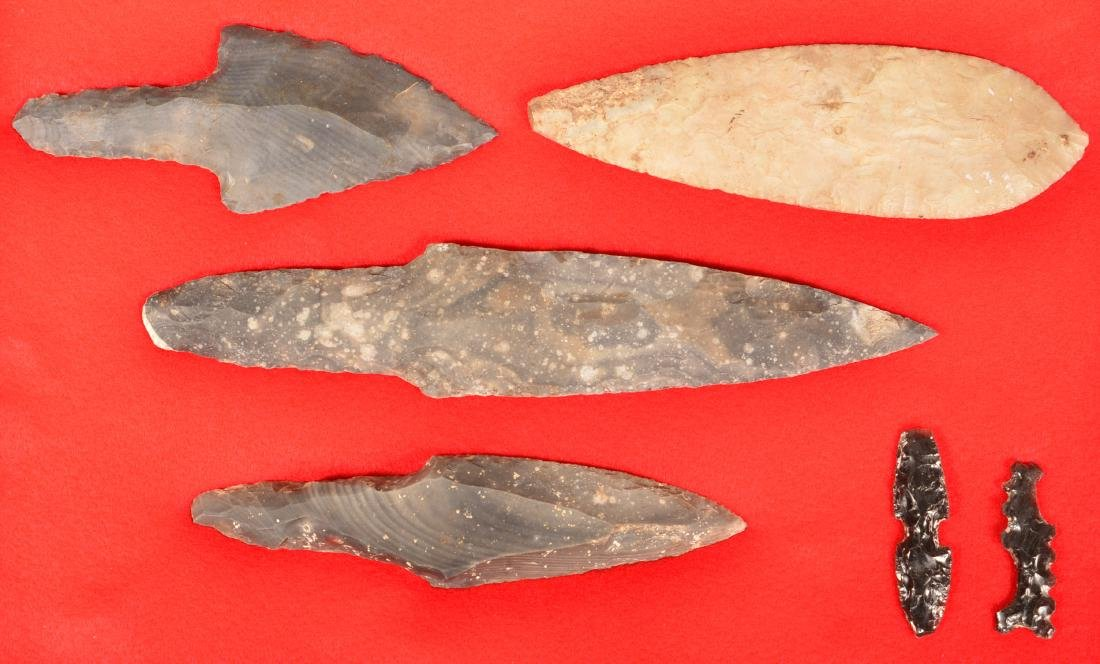Collection of Precolumbian Mexican Flint Artifacts