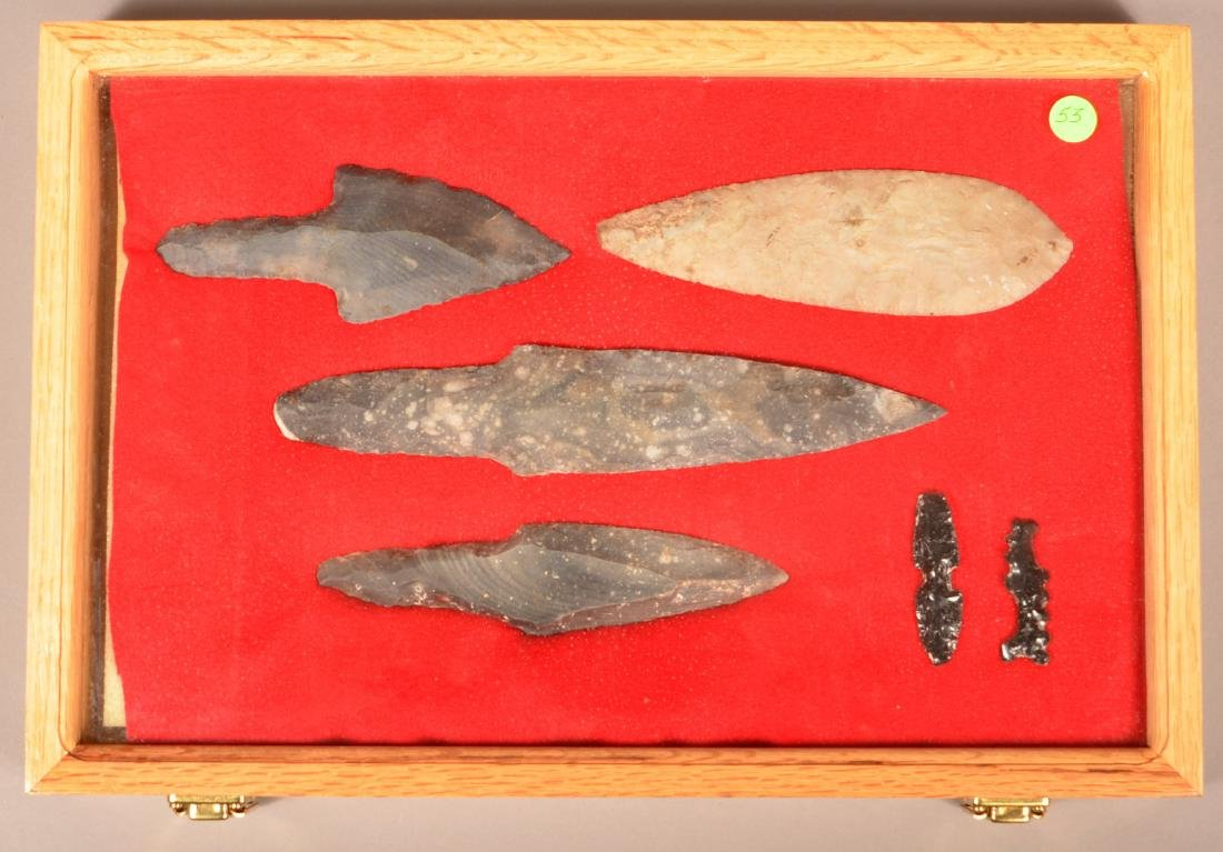 Collection of Precolumbian Mexican Flint Artifacts - 2